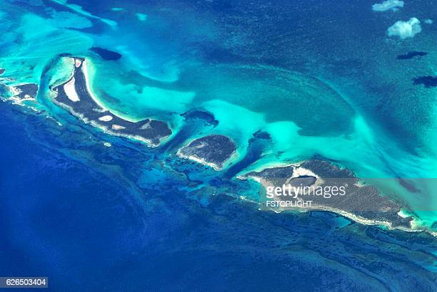 aerial view of cays - fstoplight stock photos and pictures