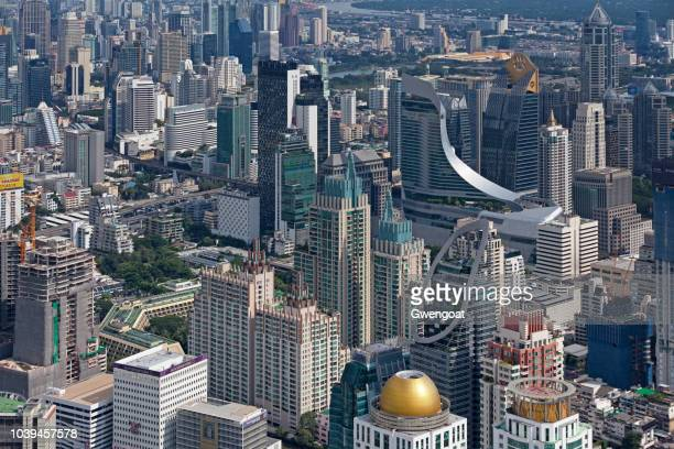 aerial view of central embassy in bangkok - gwengoat stock pictures, royalty-free photos & images