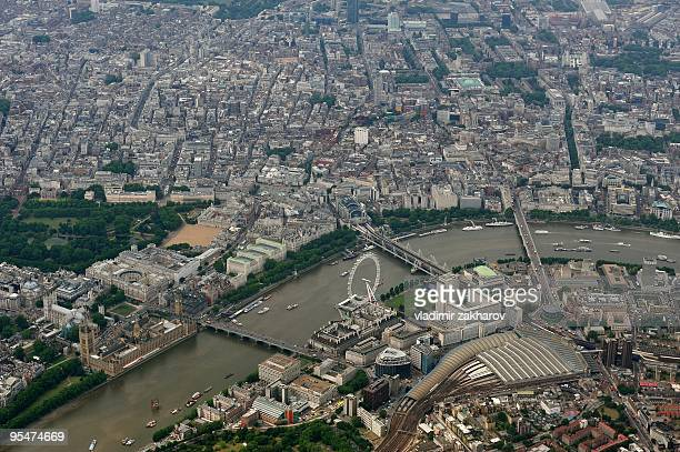 aerial view of central london - holborn stock pictures, royalty-free photos & images