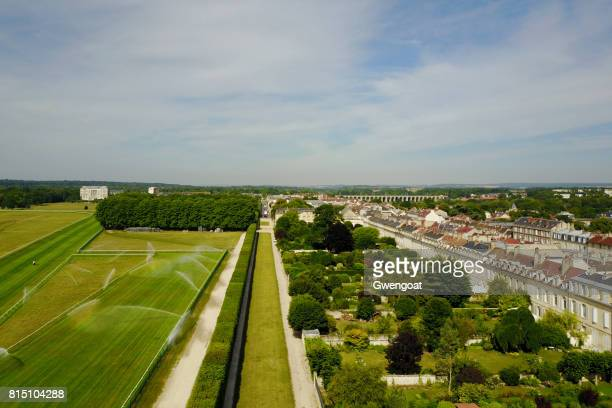Luftaufnahme von Chantilly