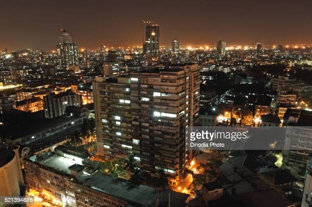 Aerial view of charni road, Girgaum, Mumbai, Bombay, Maharashtra, India