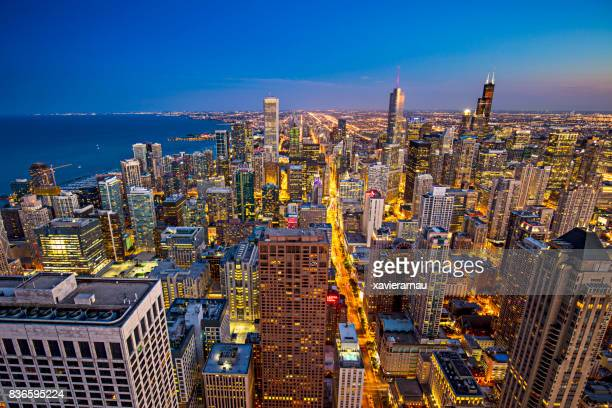 Luftbild von Chicago downtown