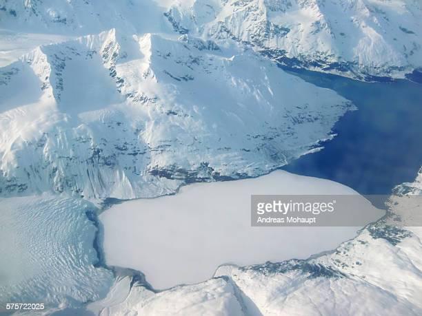 Aerial view of Chugach Mountains, Alaska