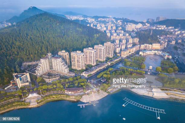 Aerial View of Chun'an county, Qiandao lake, Zhejiang China