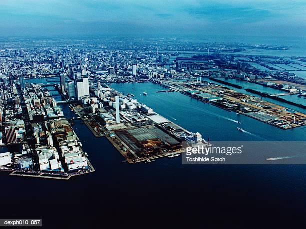 Aerial View of Chuo-ku, Tokyo, Japan