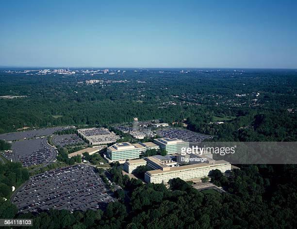 Aerial view of CIA headquarters Langley Virginia