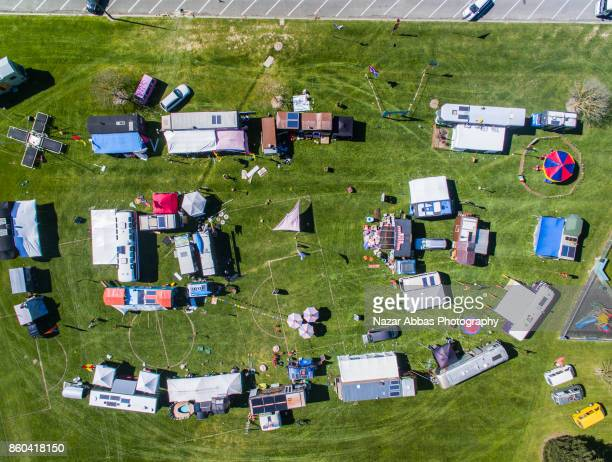 Aerial view of Circus in Ashburton, South Island, New Zealand.