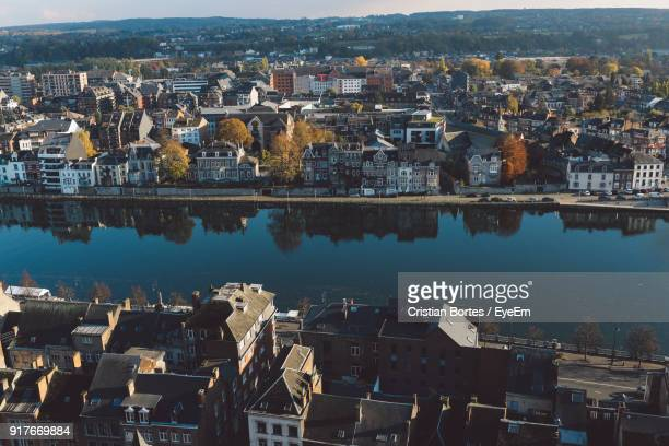 aerial view of city at night - bortes stock pictures, royalty-free photos & images