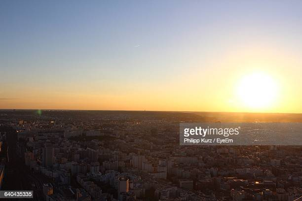Aerial View Of City From Tour Montparnasse