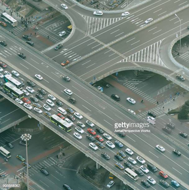 Aerial View of City highway
