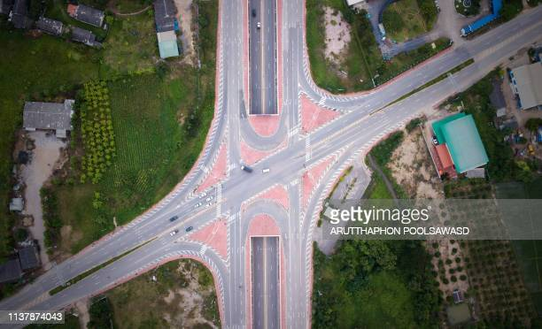 aerial view of city in countryside - ain france stock pictures, royalty-free photos & images