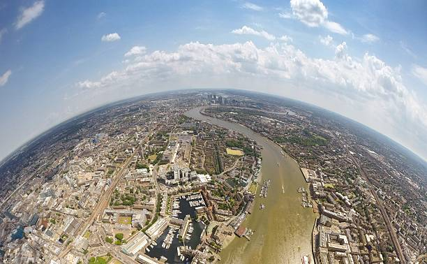 Aerial View Of City, London, England, UK Wall Art