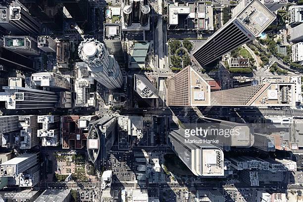 aerial view of city, los angeles, los angeles county, california, usa - city of los angeles fotografías e imágenes de stock