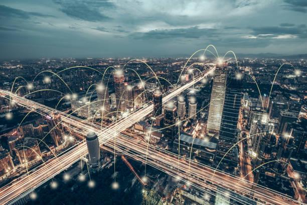 北京地平線城市網鳥瞰圖 - 聯繫 個照片及圖片檔