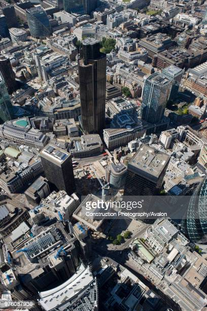 Aerial view of City of London Tower 42 London
