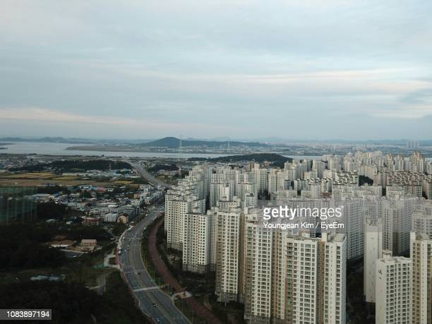 aerial view of city - goyang stock pictures, royalty-free photos & images