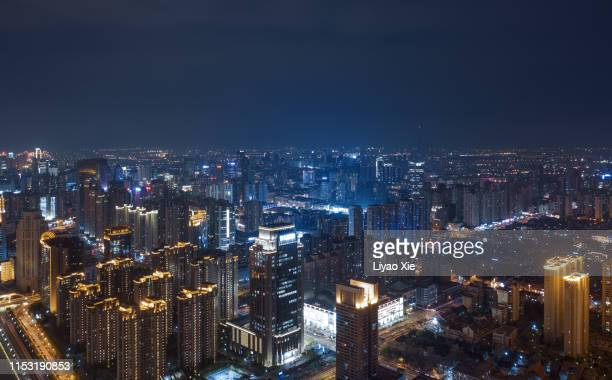 aerial view of city - liyao xie stock pictures, royalty-free photos & images