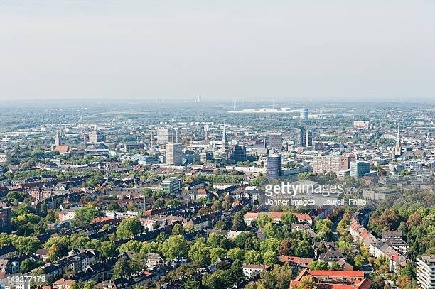 aerial view of city - dortmund city stock pictures, royalty-free photos & images