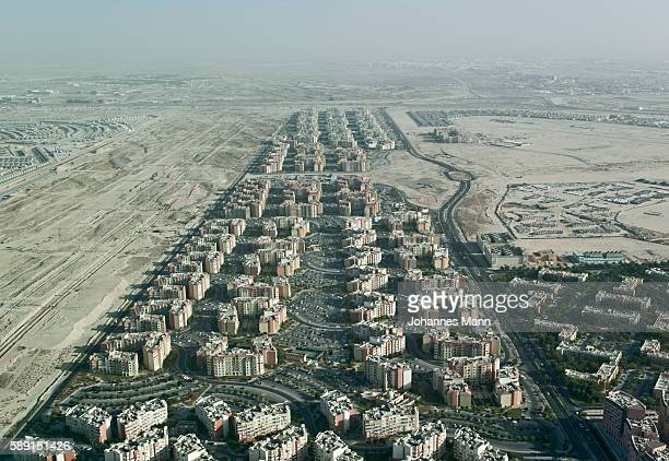 aerial view of city - housing development stock pictures, royalty-free photos & images