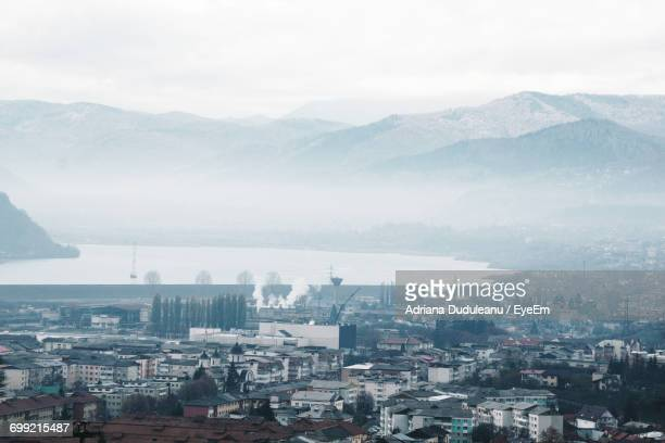 aerial view of city - adriana duduleanu stock photos and pictures