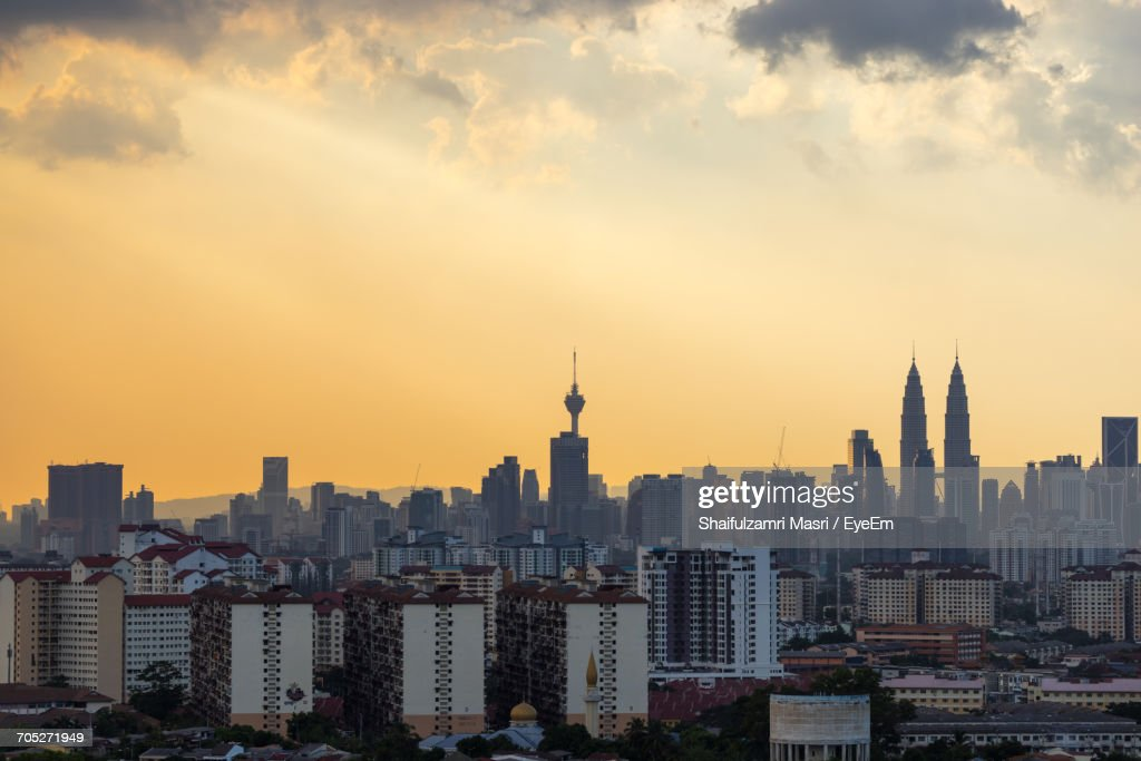 Aerial View Of City : Stock Photo