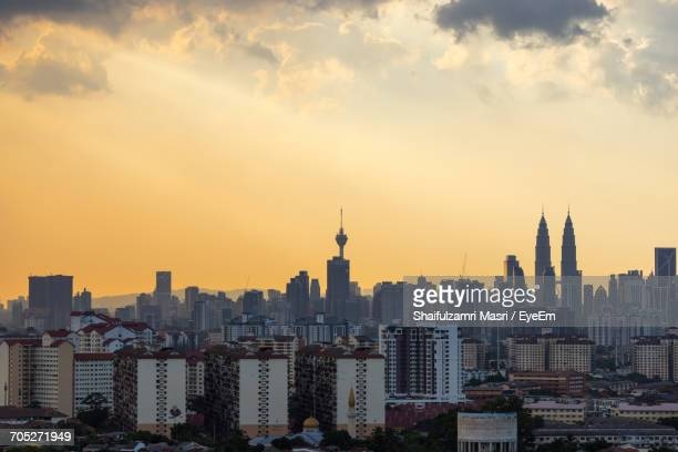aerial view of city - shaifulzamri stock pictures, royalty-free photos & images