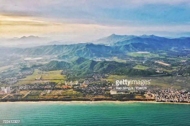 aerial view of city - kunming stock photos and pictures