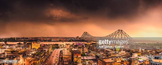 aerial view of city - kolkata stock pictures, royalty-free photos & images