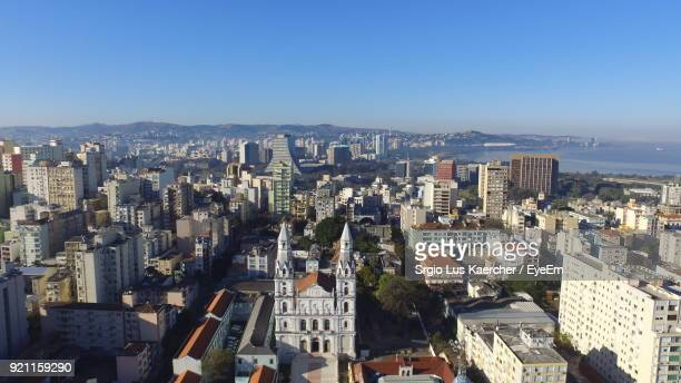 aerial view of city - porto alegre stock pictures, royalty-free photos & images