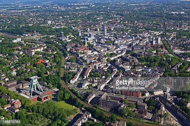Aerial view of city, Ruhr district.