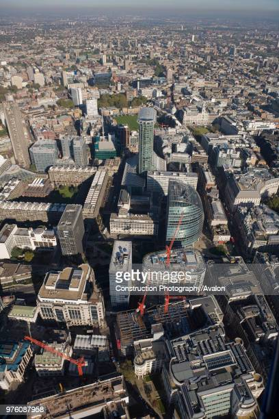 Aerial view of Citypoint and Moor House Moorgate London