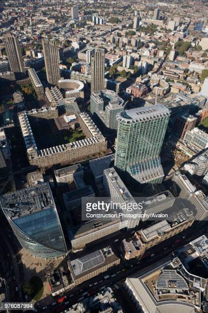 Aerial view of Citypoint Barbican Centre London