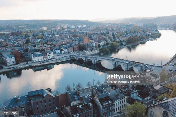 aerial view of cityscape against sky - bortes stock pictures, royalty-free photos & images
