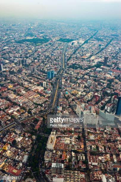 Aerial view of cityscape, Mexico City, Distrito Federal, Mexico