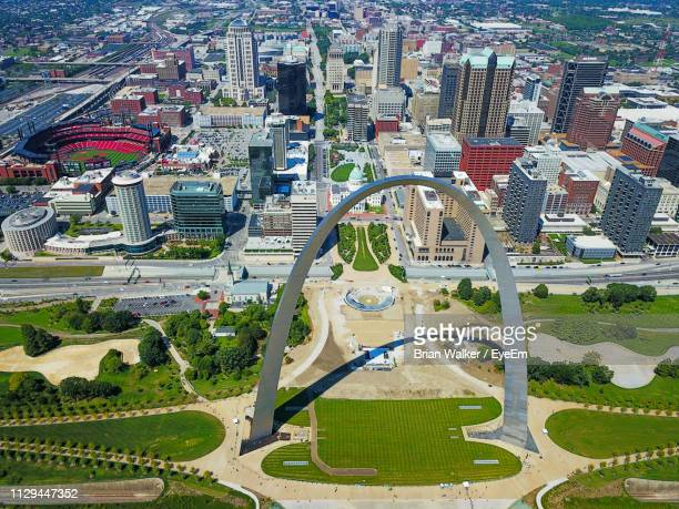 aerial view of cityscape - st. louis missouri stock pictures, royalty-free photos & images