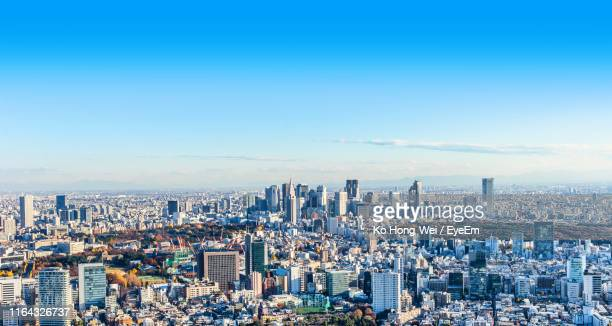 aerial view of cityscape - 昼間 ストックフォトと画像