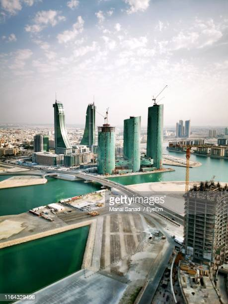 aerial view of cityscape - manama stock pictures, royalty-free photos & images