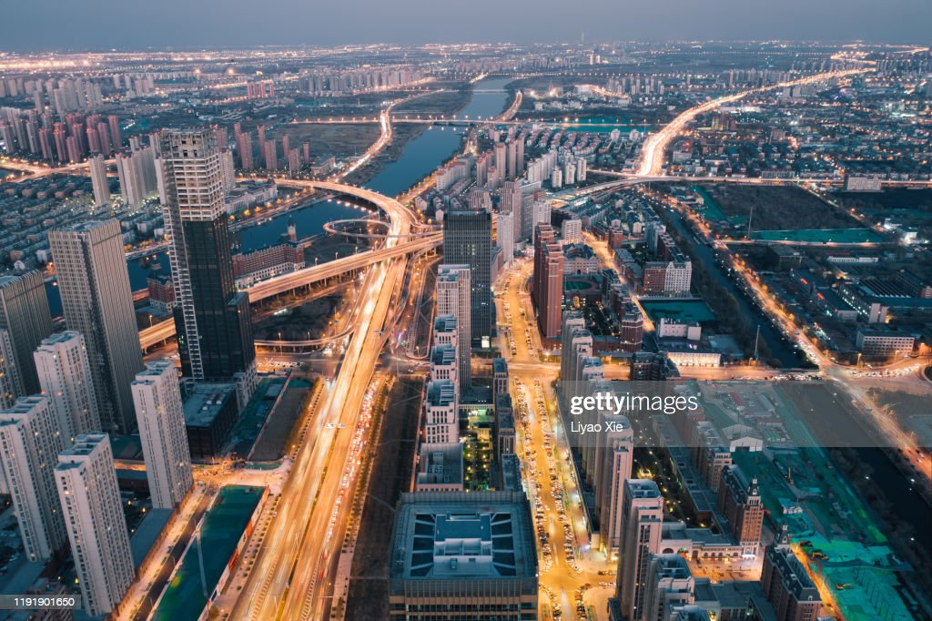 Aerial view of cityscape : Stock Photo