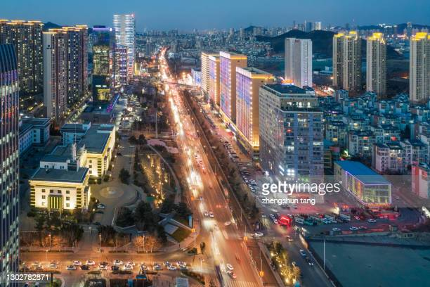 aerial view of cityscape - tokyo midtown stock pictures, royalty-free photos & images