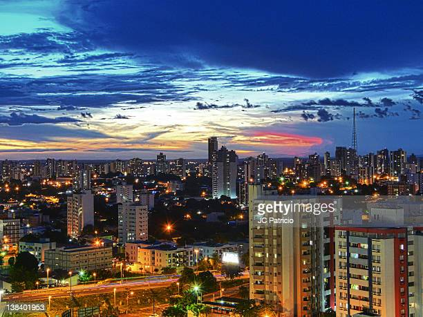 aerial view of cityscape - cuiabá stock photos and pictures