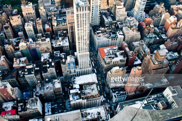 aerial view of cityscape - close to stock pictures, royalty-free photos & images