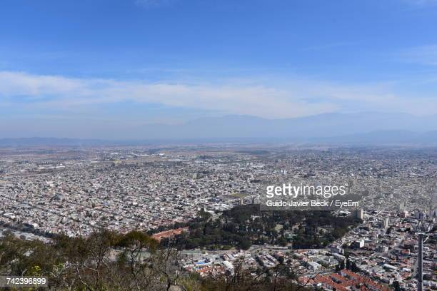 aerial view of cityscape - salta argentina stock photos and pictures