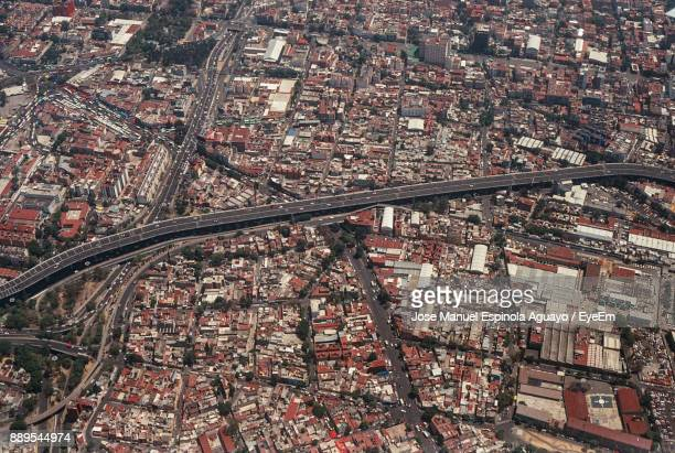 aerial view of cityscape - mexico city aerial stock pictures, royalty-free photos & images
