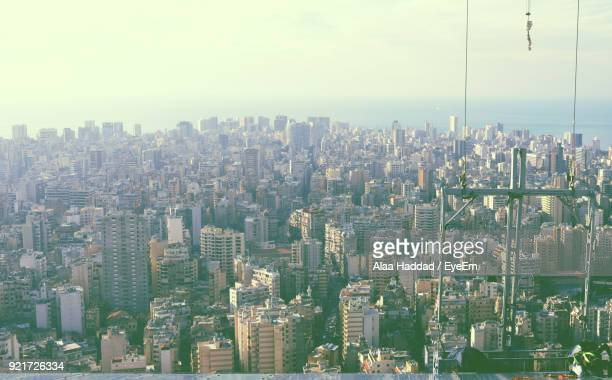 aerial view of cityscape - beirut stock pictures, royalty-free photos & images