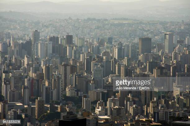 aerial view of cityscape - belo horizonte stock pictures, royalty-free photos & images