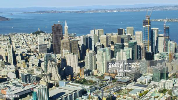 Aerial view of cityscape, San Francisco, California, United States