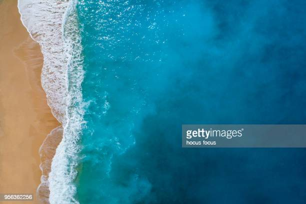 aerial view of clear turquoise sea - tranquility stock pictures, royalty-free photos & images