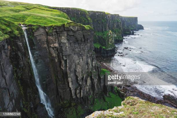 aerial view of cliffs of moher ireland - cliff stock pictures, royalty-free photos & images