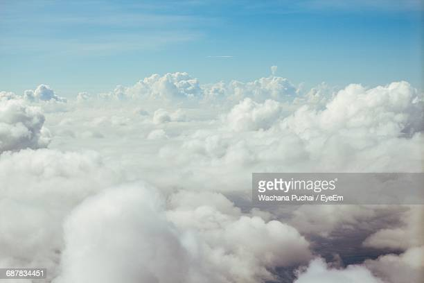 Aerial View Of Clouds Against Sky