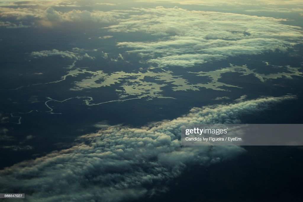 Aerial View Of Clouds And Dramatic Landscape : Stock Photo
